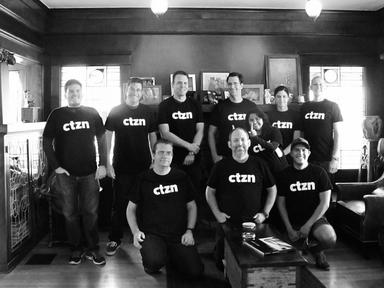 The CTZN team sporting their official t-shirts