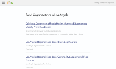 Organizations featured on Food Oasis