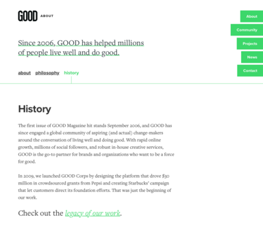 History of GOOD